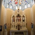 custom mural and church restoration Guardian angels church oran, mo